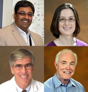 Clockwise: Dr. Arbab, Dr. Bradford, Dr. Stefanek, Dr. Ferris