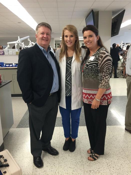 Katie Parham, dad Mike Parham and mom Sue Parham
