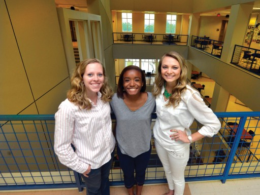 Amy Richardson, Jazmine Bates, and Madison Layton.