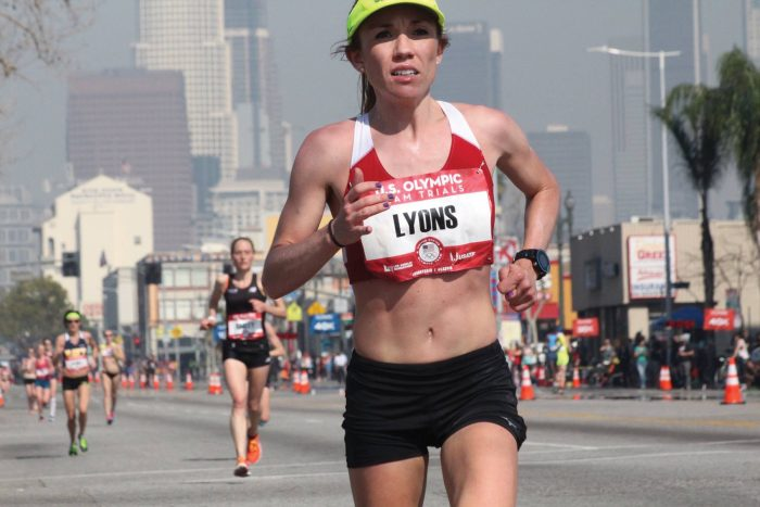 Bridget Lyons competing in the U.S. Olympic Trials