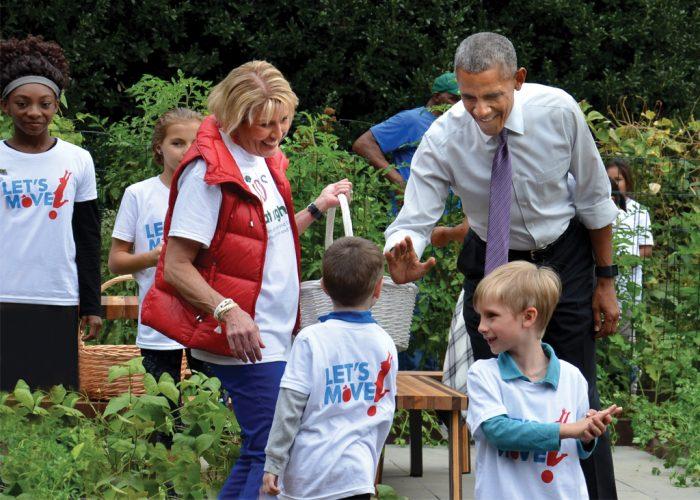 Donna Martin meets President Obama
