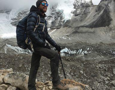 Brandon Arant hikes Mt. Everest.