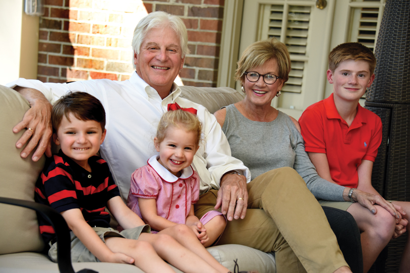 J. Ben and Donna Deal with grandchildren John, Ellyson and Judson