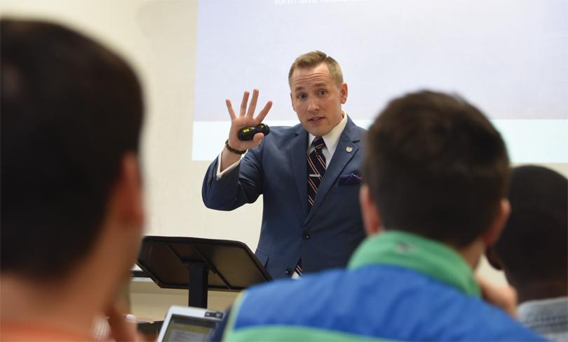 Craig Albert teachng class