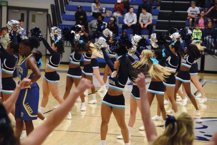 Cheerleaders at Homecoming game