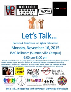 Let'sTalkRacismandReactionsinHigherEducationFlyer (4)