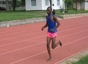 Ndhlovu, age 17, competing in Zimbabwe.