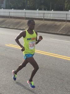 Ndhlovu running at home, in Augusta