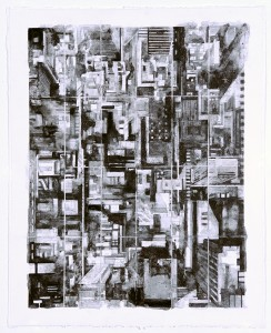 Cardinal Point 2013 graphite on paper 18 25 x 22 50 inches