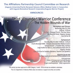 Wounded Warrior Symposium flyer