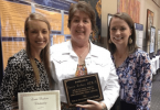 Laurie Cordaro, center, was named Georgia's Occupational Therapist of the Year. One of her students Jillian Johnson, left, was named OT Student of the Year.