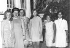 Sociology Club, circa 1970s. L-R: Sallie Thompson, Secretary, LuEtta Limans, Velda Miller, Ginny Bertsche, Vice President, Nancy Durant, Jamie Allen