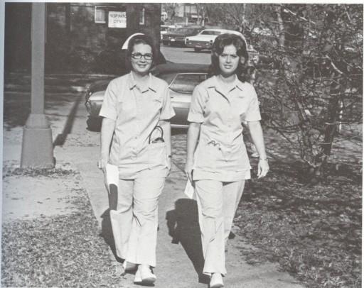 1970s nurses in pants