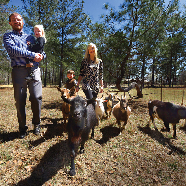 Billy Brinson and goats