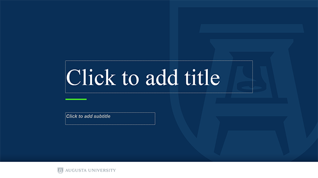 powerpoint templates augusta university