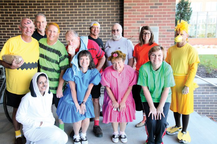 General Dentistry group dressed up as Peanuts characters