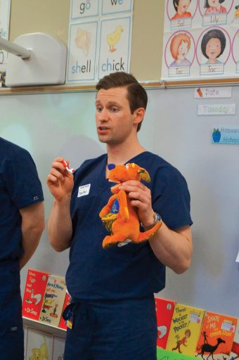 Dental students visit Heritage Academy