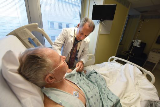 Dr. Weintraub with patient