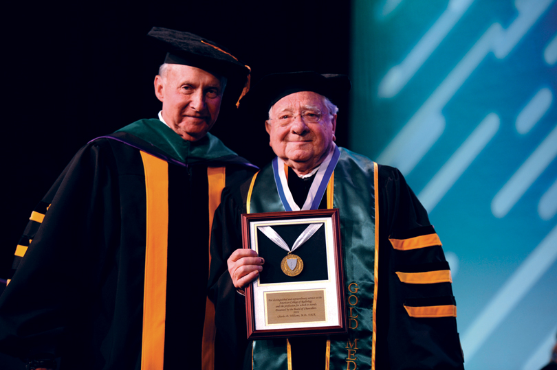 Dr. Charles Williams receives the 2016 Gold Medal from the American College of Radiology.