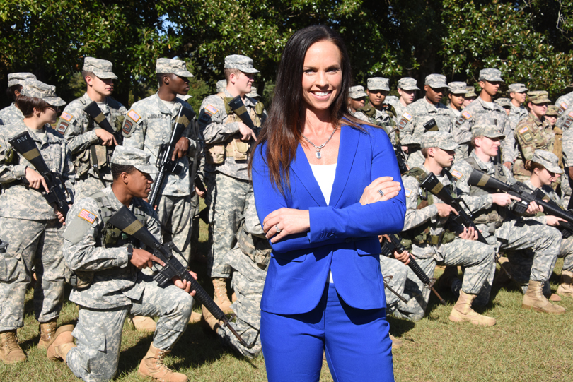 Dr. Meredith Rausch and Augusta University ROTC