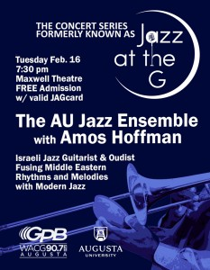 Jazz at the G Flyer Feb 2016