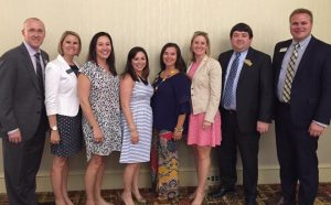 From left: Dr. Mark Thompson, Melissa Furman, Jennifer Gagnon, Rebecca Plankey, Summer Bell, Rhonda Banks, Adam Williams, Wes Zamzow