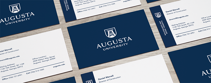 Copy and print services now accepting orders for augusta need a quick print for an upcoming poster session slow to get your new augusta university branded business cards need stationery with the new university reheart Image collections
